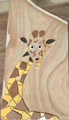 Red Brush Art Blog Mosaics: Giraffe Ceramic Tile Mosaic on Sandstone