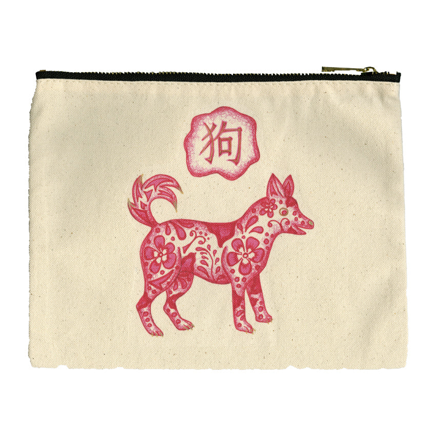 Cotton Canvas Pouch - Dog