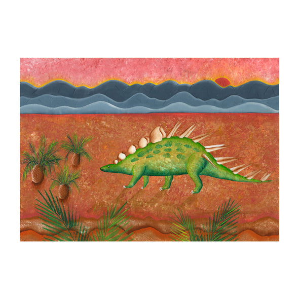Red Brush Arts Dinosaurus Alphabetus Prints