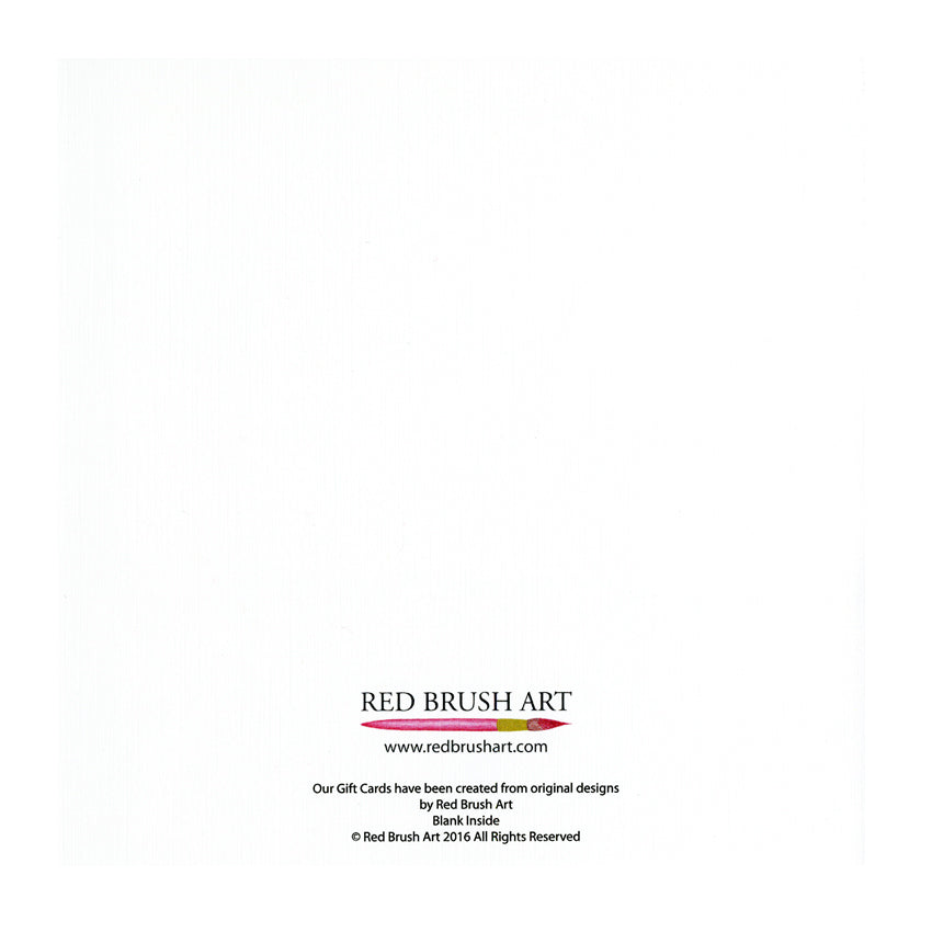 Red Brush Art Christmas Gift Card