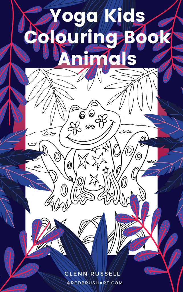 Yoga Kids Colouring Book - Animals