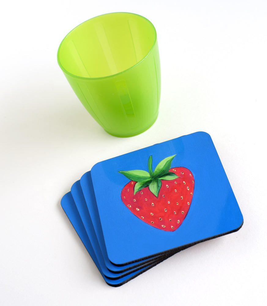 Red Brush Art Coaster