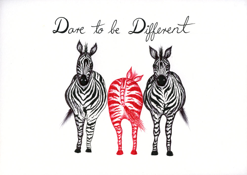Quotes - Dare to Be Different - Zebra