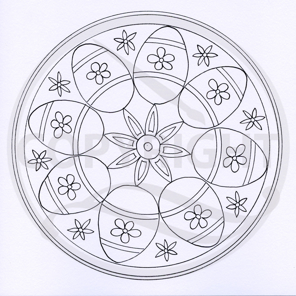 Easter Mandala Colouring Page 2