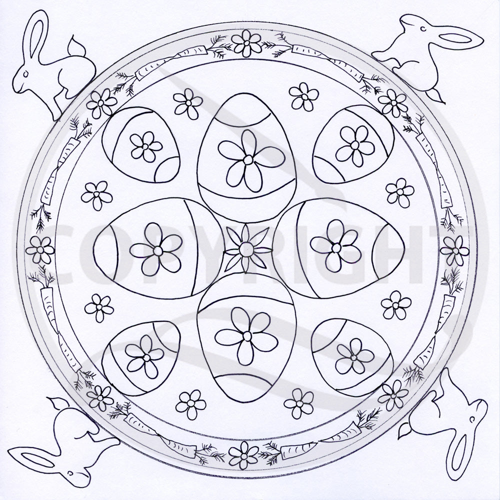 Easter Mandala Colouring Page 3