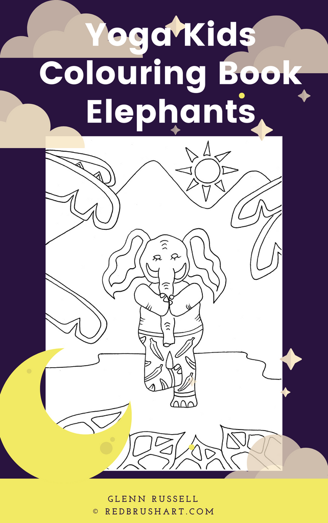 Yoga Kids Colouring Book - Elephant Asanas
