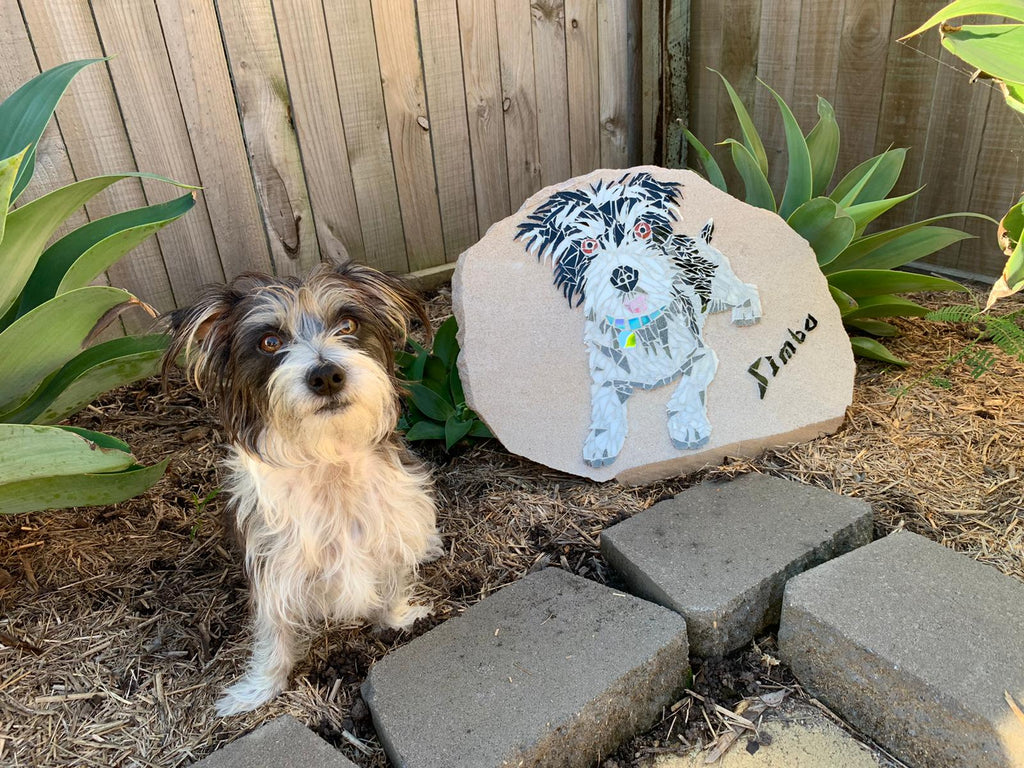 Mosaics on Sandstone Pet Portrait