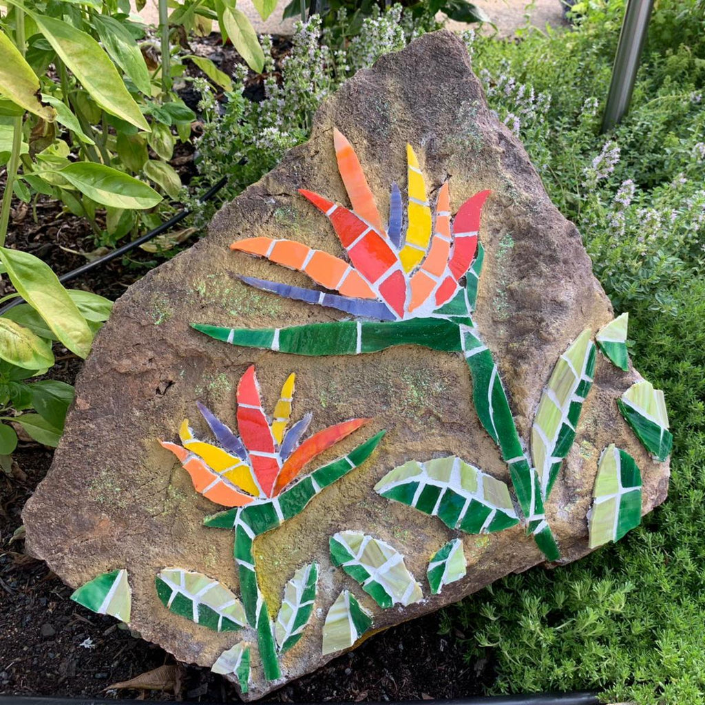 Mosaics on Sandstone Bird of Paradise