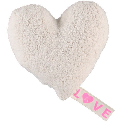 PiLLOW - LOVE FLEECE - iVORY