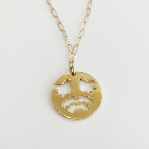 NECKLACE - CUT OUT BiRDS 14K GOLD