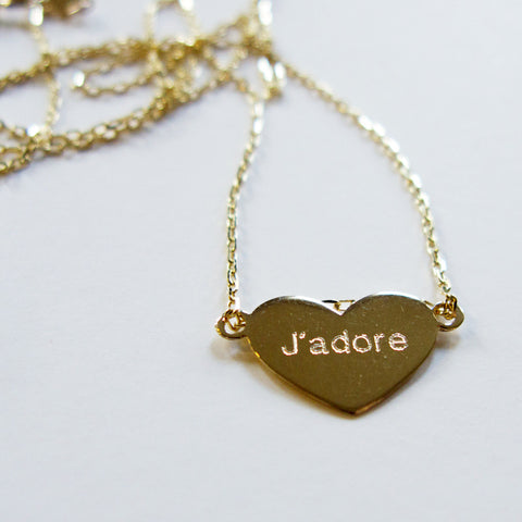 NECKLACE - HEART+J'adore 14K GOLD