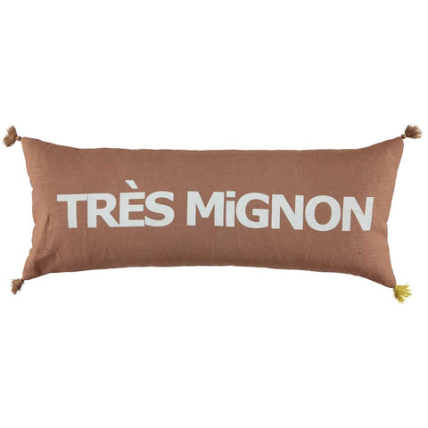 CUSHION - DOUBLE CUSHiON - TRÈS MiGNON WHiTE ON BROWN