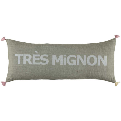 CUSHION - DOUBLE CUSHiON - TRÈS MiGNON SiLVER WHiTE ON COCONUT
