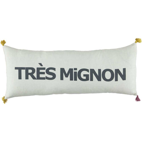 CUSHION - DOUBLE CUSHiON - TRÈS MiGNON GRAY ON MiLKY WHiTE