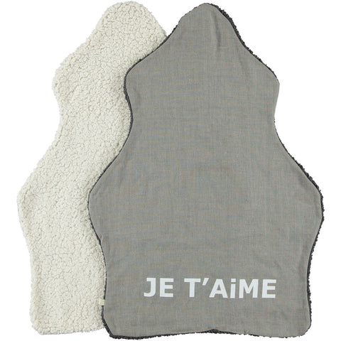 Je T'aime Blanket in Ivory