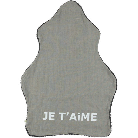 Je T'aime Blanket in Dark Gray