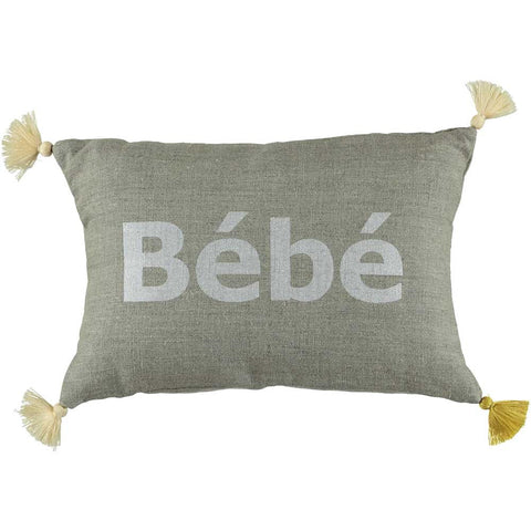 CUSHiON - PETiT - Bébé SiLVER WHiTE ON COCONUT