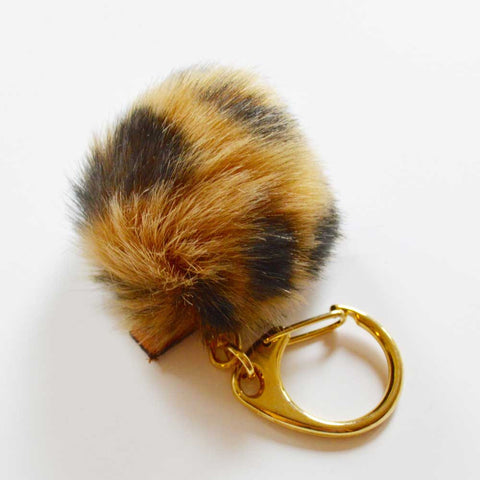 KEY HOLDER - FAUX FUR