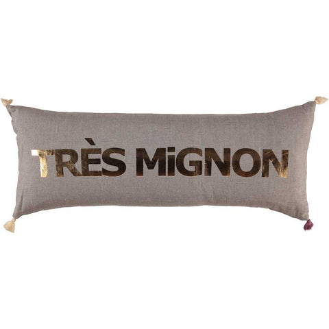CUSHION - DOUBLE CUSHiON - TRÈS MiGNON GOLD FOiL ON COCONUT