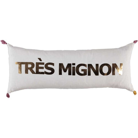 CUSHION - DOUBLE CUSHiON - TRÈS MiGNON GOLD FOiL ON MiLKY WHiTE