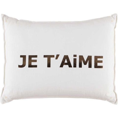 CUSHiON - LETTER - LOVE GOLD FOiL ON MiLKY WHiTE