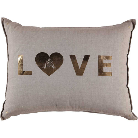 CUSHiON - GRAND - LOVE GOLD FOiL ON COCONUT