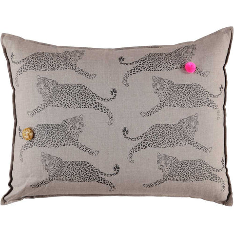 GRAND CUSHiON - LEOPARDS ON COCONUT