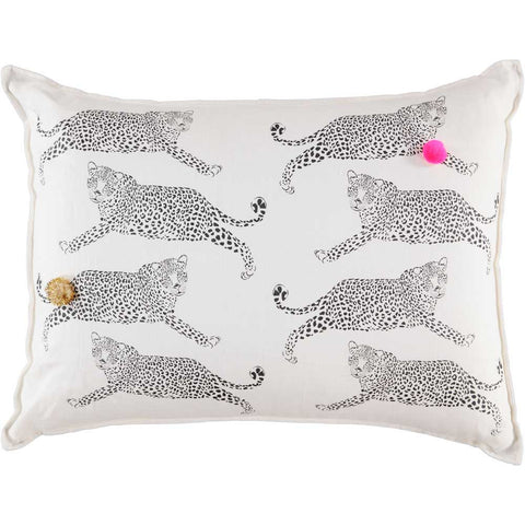 GRAND CUSHiON - LEOPARDS iN MiLKY WHiTE