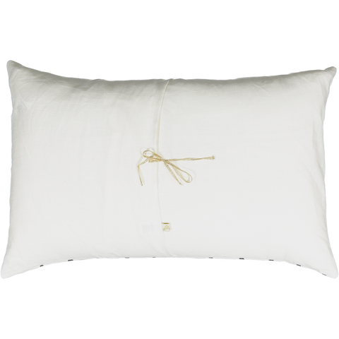 Je T'aime Carte Cushion with Red Diamond in Milky White