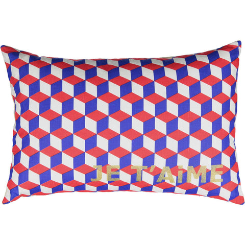 GEOMETRiC CUSHiON - MYSTiC BLUE