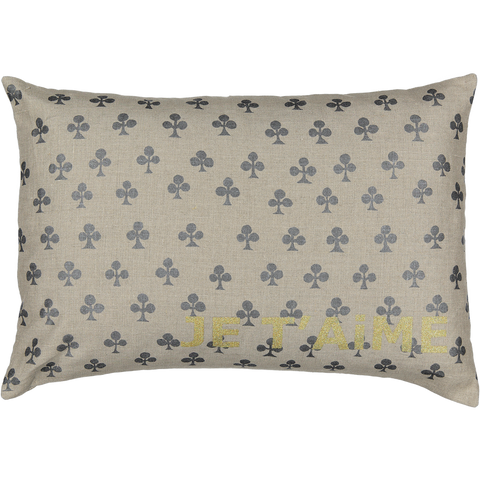 CUSHiON - JE T'AiME CARTE - CLOVER iN COCONUT