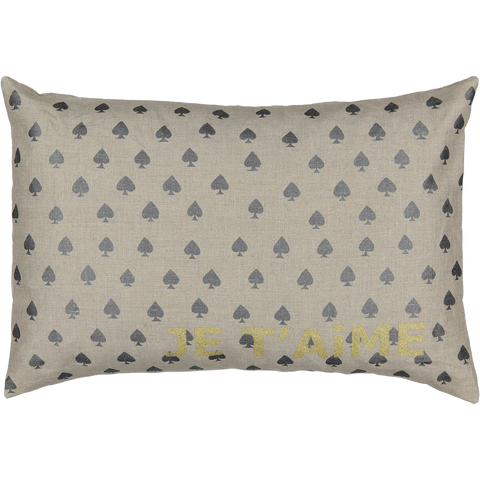 CUSHiON - JE T'AiME CARTE - SPADE iN COCONUT (Cover Only)