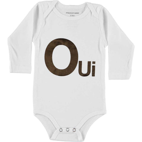 ONESiE LONG SLEEVE - OUi - WHiTE