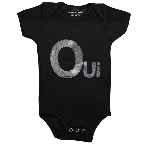 ONESiE SHORT SLEEVE - OUi iN SiLVER FOiL