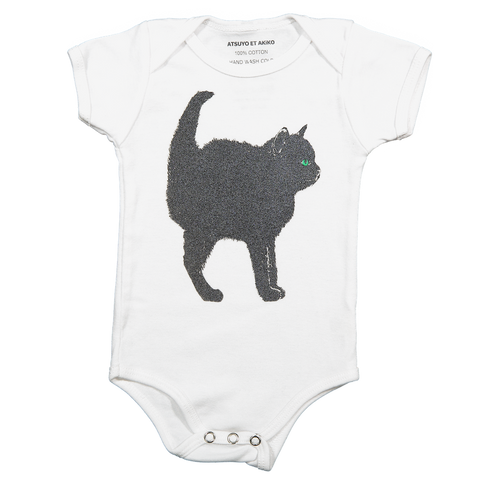 A-ONESiE SHORT SLEEVE - CHAT NOiR