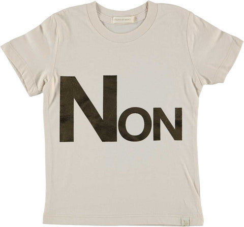 NATURAL CREW TEE - NON iN GOLD FOiL