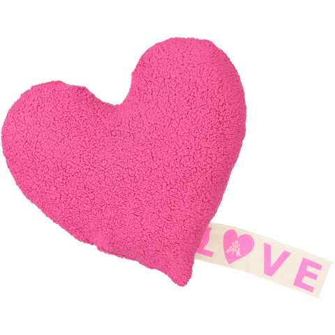 PiLLOW - LOVE FLEECE - HOT PiNK