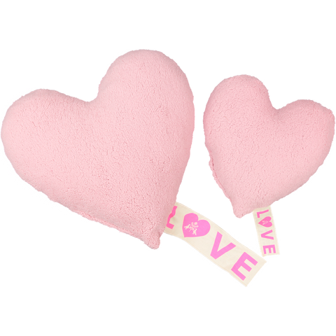 Love Fleece Pillow in Pink