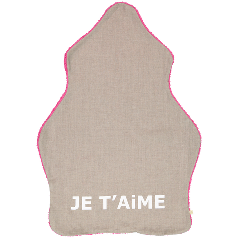 Je T'aime Blanket in Hot Pink