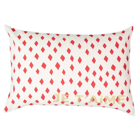 CUSHiON - LETTER - LOVE ORANGE iN MiLKY WHiTE