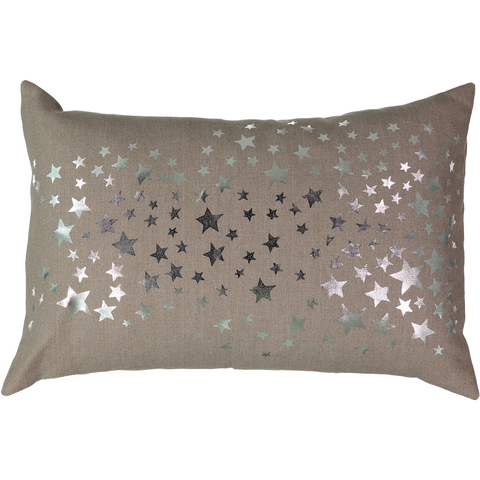 Étoiles Silver Cushion in Coconut