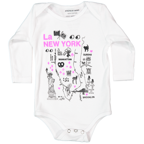 ONESiE LONG SLEEVE - La NEW YORK in PiNK
