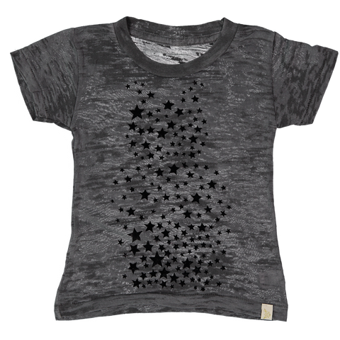 Étoiles Burnout Tee in Black