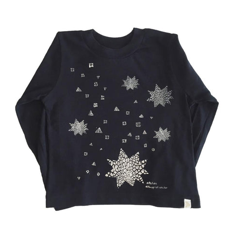 TEE LONG SLEEVE - STARBURST-SiLVER FOiL