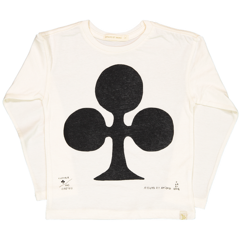 LARA LONG SLEEVE TEE - CARTE CLOVER