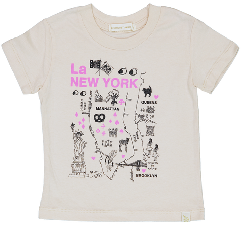 NATURAL CREW TEE - La NEW YORK in PiNK