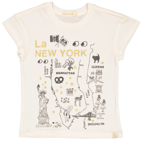 LARA SHORT SLEEVE TEE - La NEW YORK in GOLD