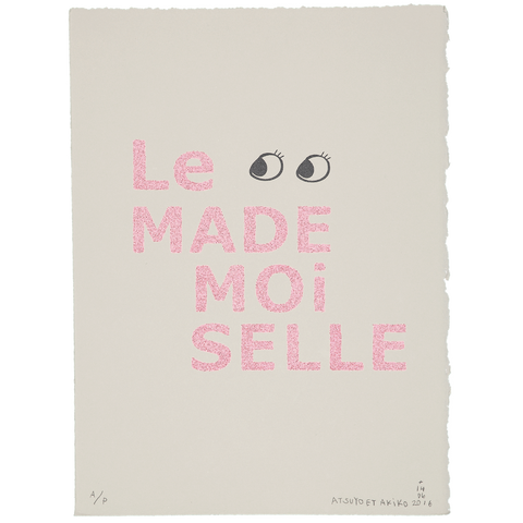 WALL ART - Le MADEMOiSELLE in PiNK