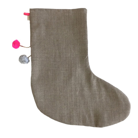 DEAR SANTA - X'mas STOCKiNG iN BROWN