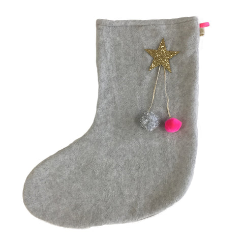 DEAR SANTA - X'mas STOCKiNG iN LiGHT GRAY
